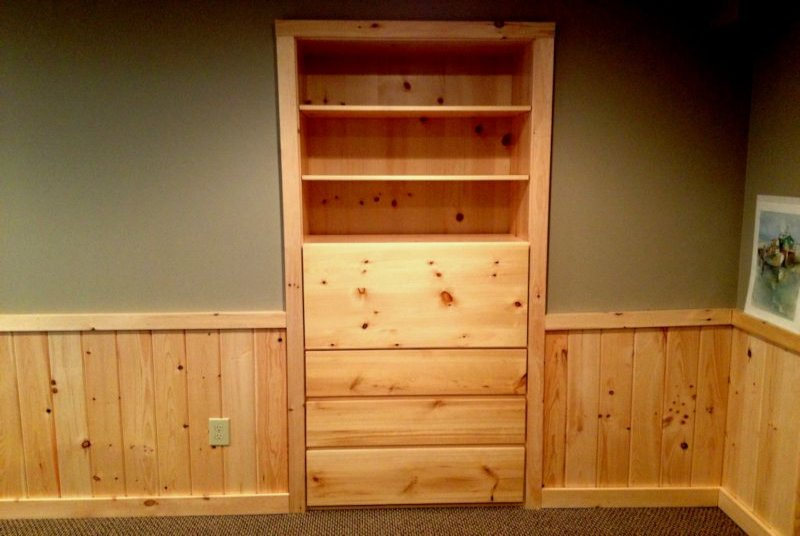 Knotty Pine Built In